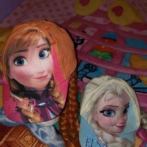 Frozen Anna & Elsa Braid Baseball Caps